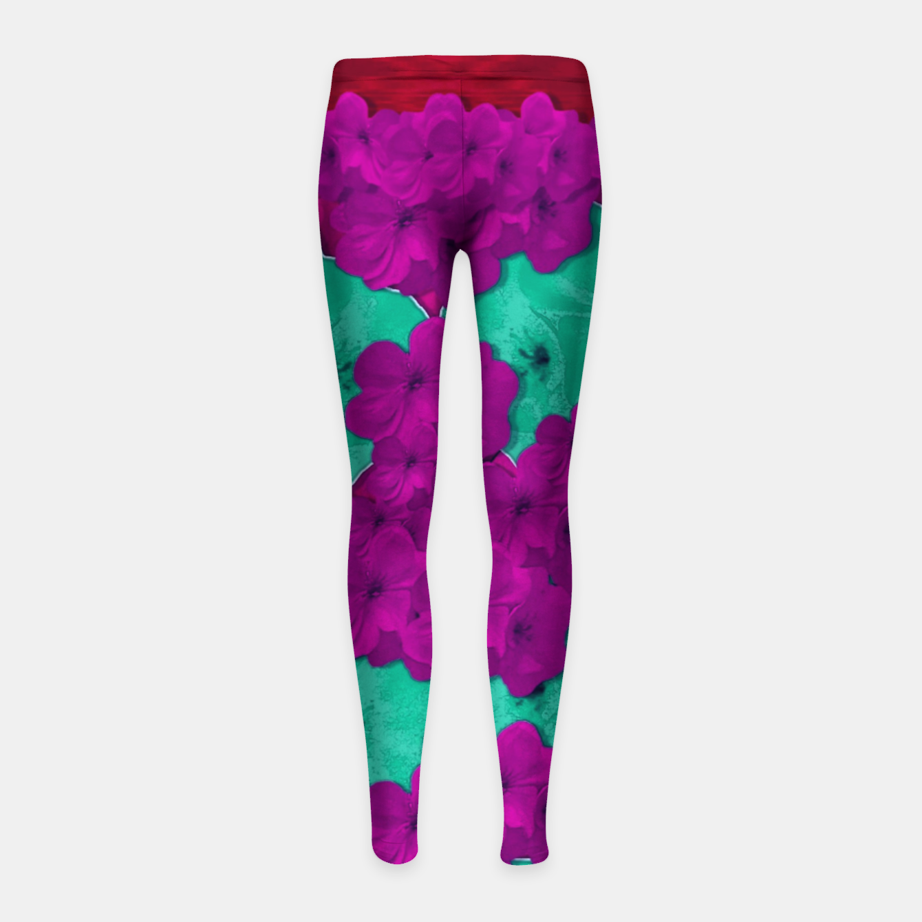 Foto Floral and  more florals   popart Girl's leggings - Live Heroes