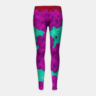 Thumbnail image of Floral and  more florals   popart Girl's leggings, Live Heroes