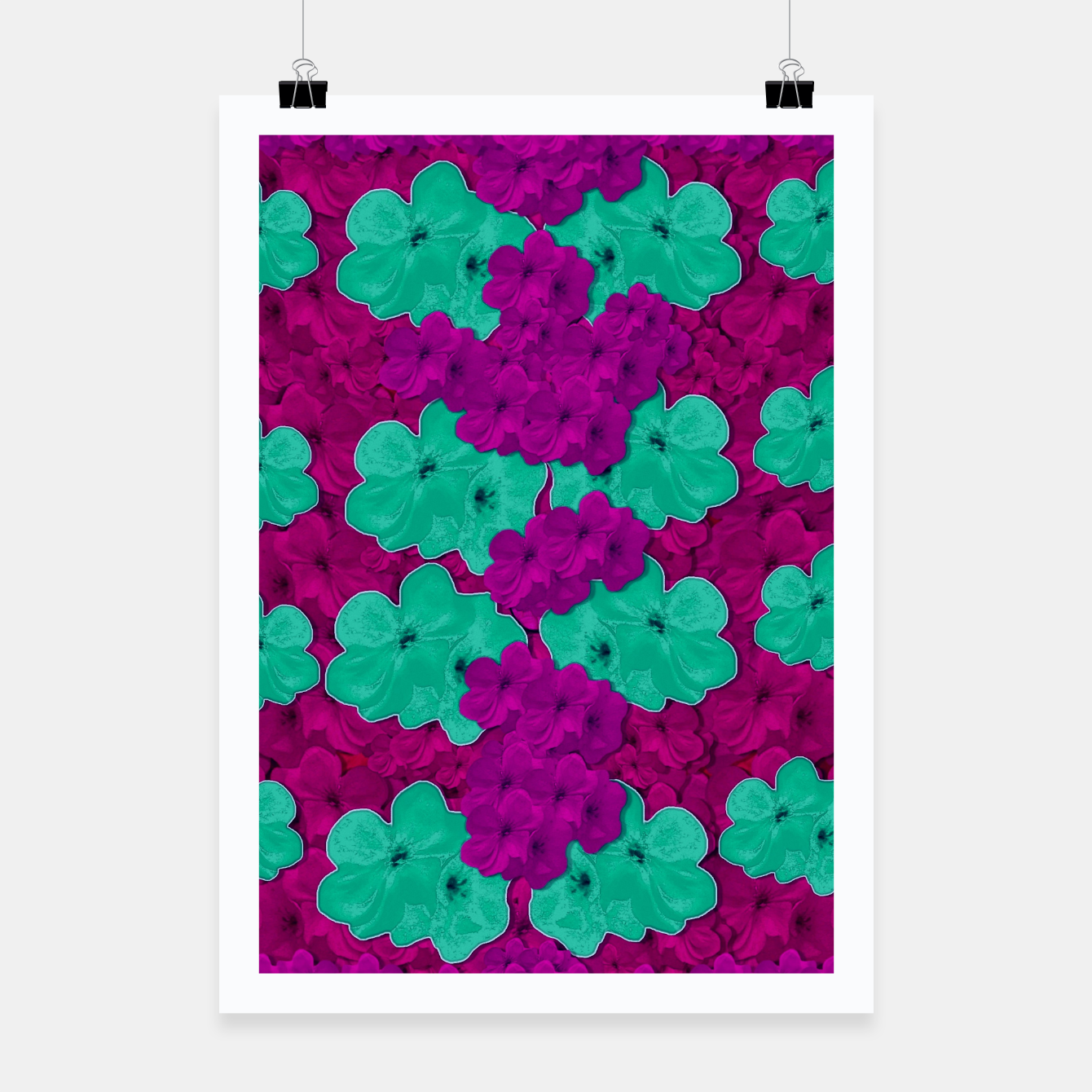 Foto Floral and  more florals   popart Poster - Live Heroes