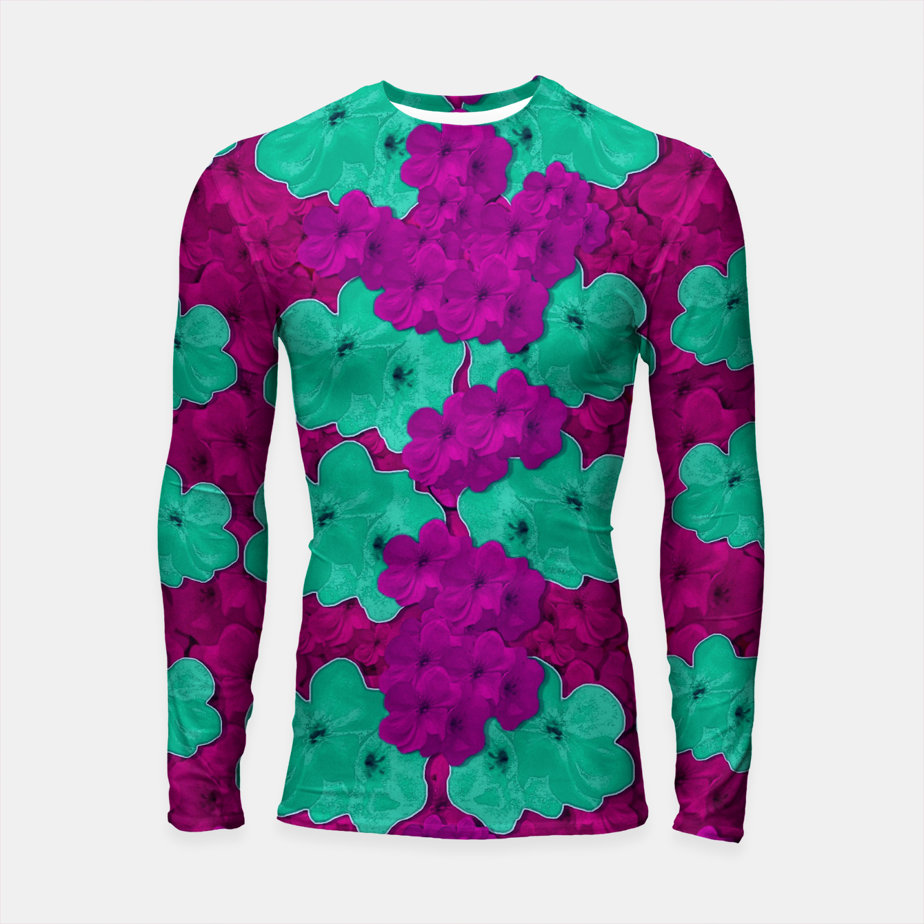 Foto Floral and  more florals   popart Longsleeve rashguard  - Live Heroes