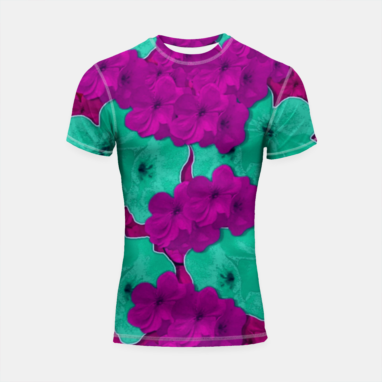 Foto Floral and  more florals   popart Shortsleeve rashguard - Live Heroes