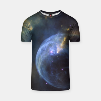 Thumbnail image of Blue Nebula Galaxy T-shirt, Live Heroes