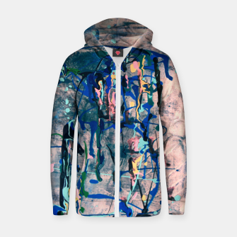 Miniaturka Chrome (action painting) Zip up hoodie, Live Heroes