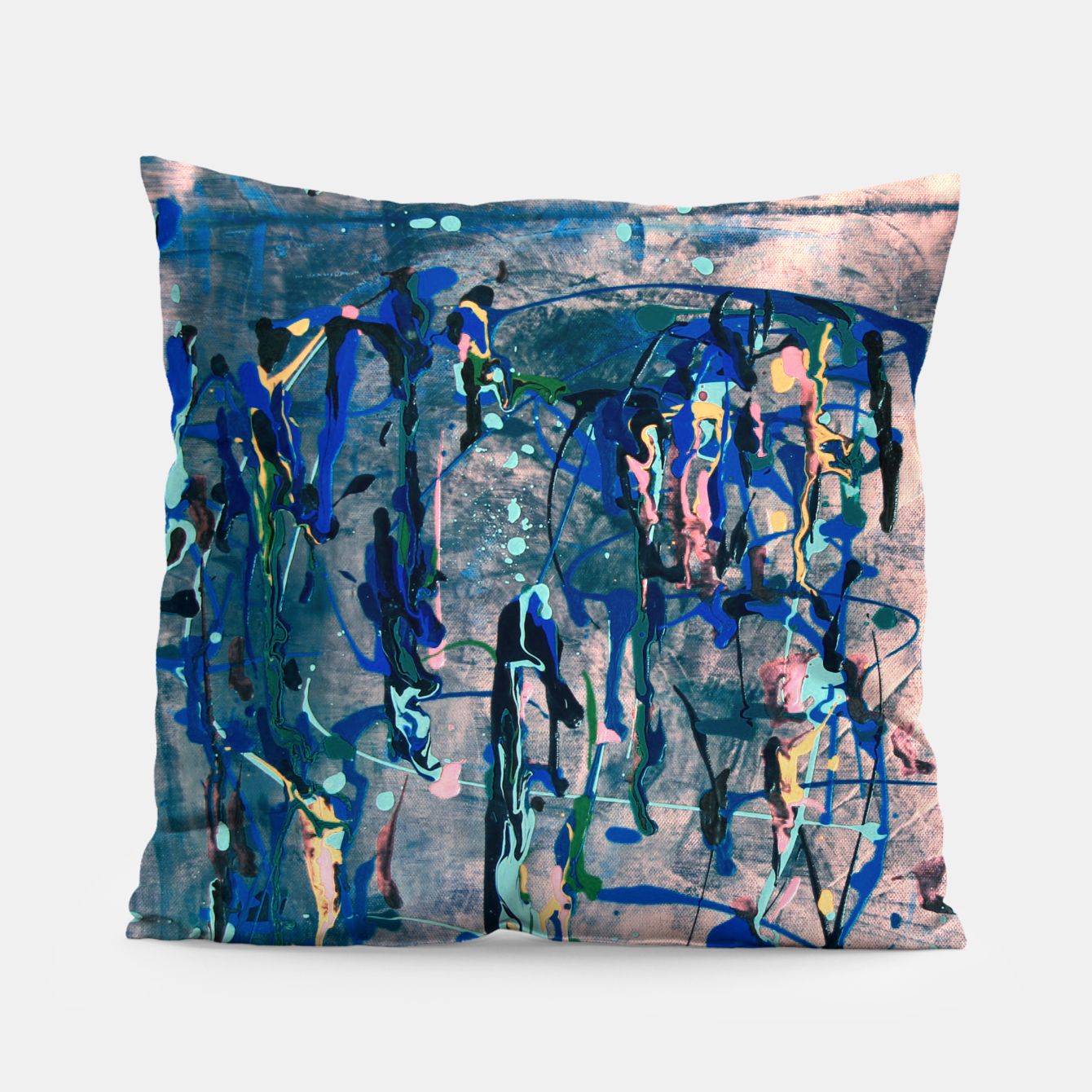 Image of Chrome (action painting) Pillow - Live Heroes