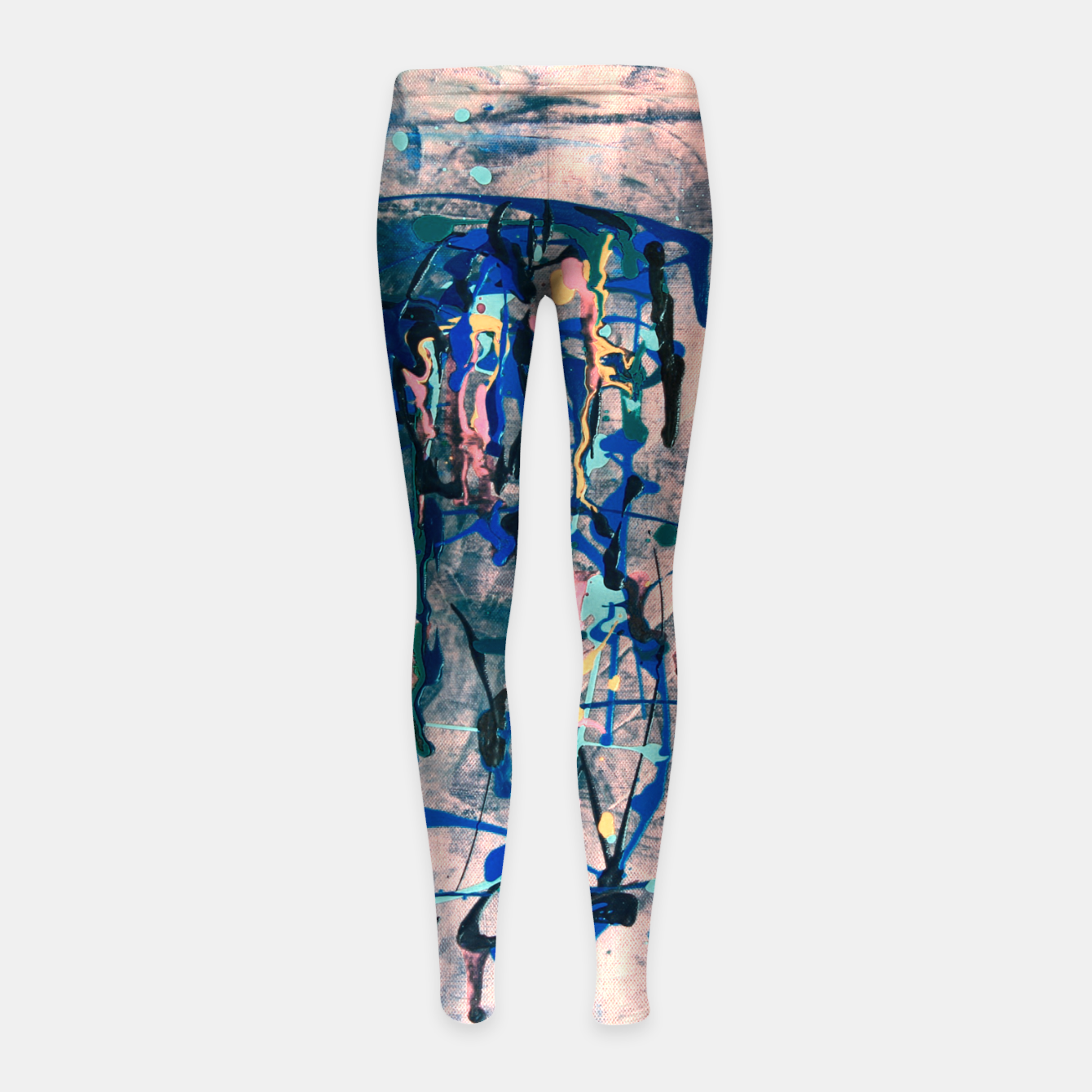Image of Chrome (action painting) Girl's leggings - Live Heroes