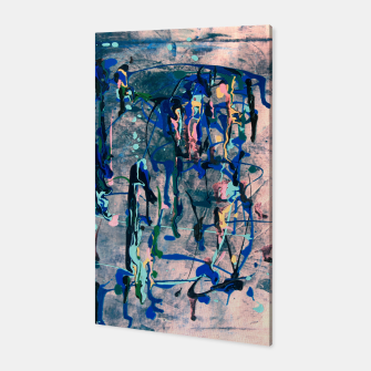 Chrome (action painting) Canvas miniature