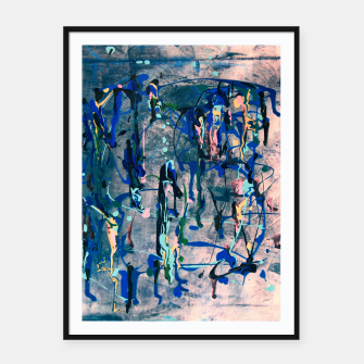 Miniatur Chrome (action painting) Framed poster, Live Heroes