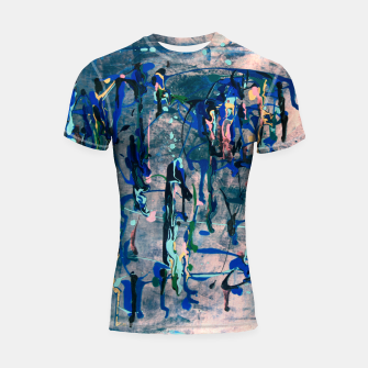 Chrome (action painting) Shortsleeve rashguard miniature