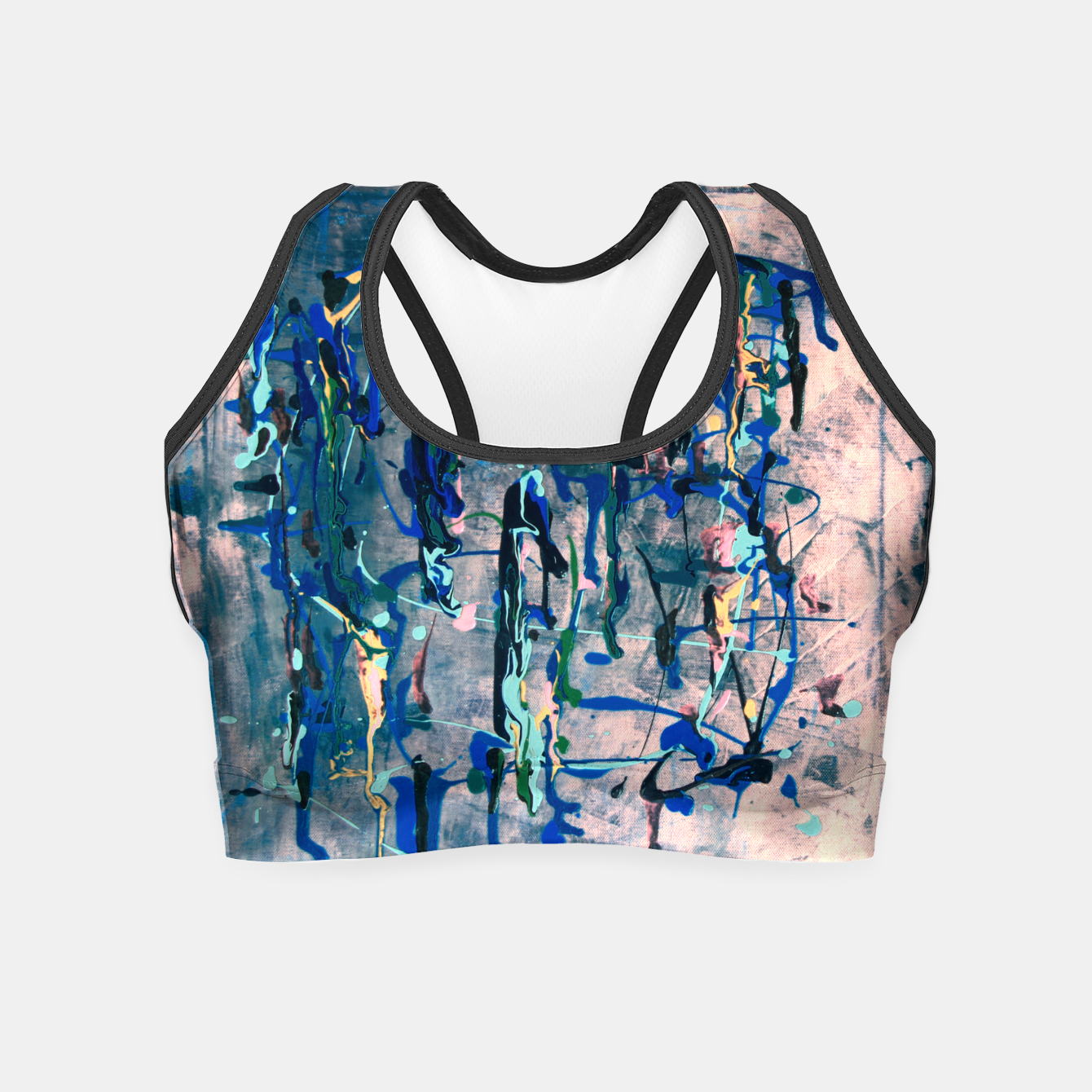 Image of Chrome (action painting) Crop Top - Live Heroes