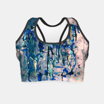 Chrome (action painting) Crop Top thumbnail image