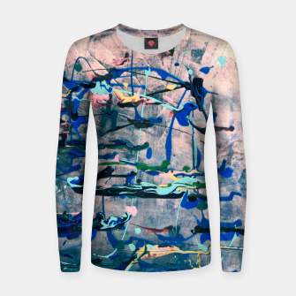 Imagen en miniatura de Chrome (action painting) Women sweater, Live Heroes