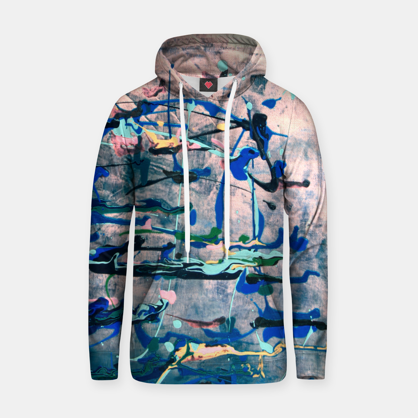 Image of Chrome (action painting) Hoodie - Live Heroes