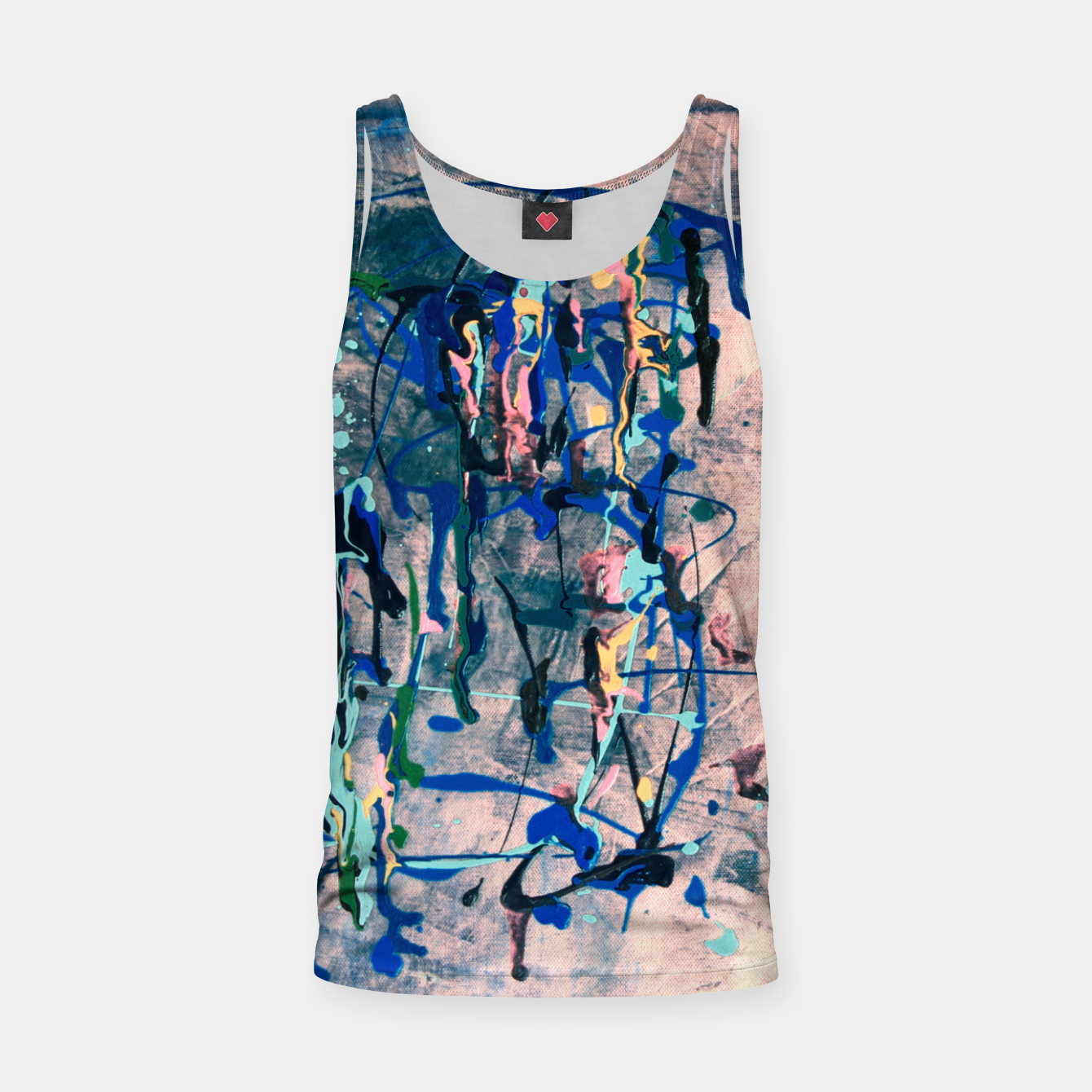 Image of Chrome (action painting) Tank Top - Live Heroes