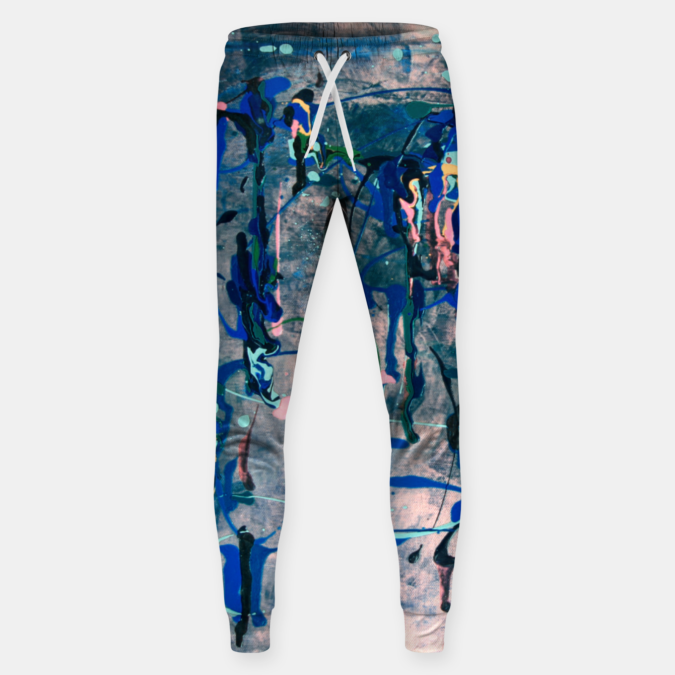 Image of Chrome (action painting) Sweatpants - Live Heroes