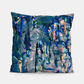 Miniaturka Chrome (action painting) Pillow, Live Heroes