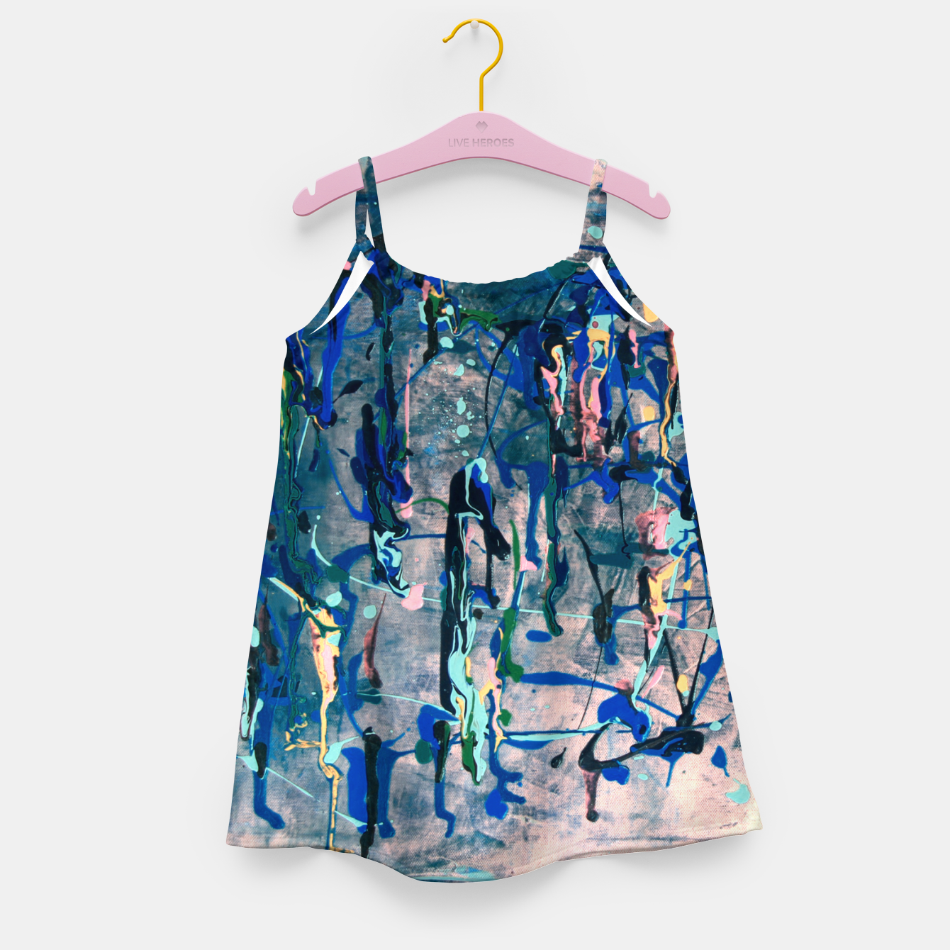 Image of Chrome (action painting) Girl's dress - Live Heroes