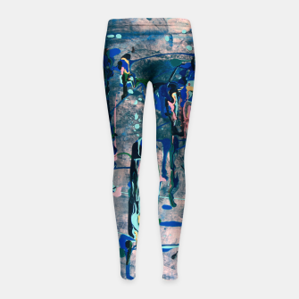 Miniaturka Chrome (action painting) Girl's leggings, Live Heroes