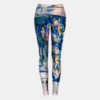 Miniaturka Chrome (action painting) Leggings, Live Heroes