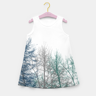 Thumbnail image of Multicolor Graphic Botanical Print Girl's summer dress, Live Heroes