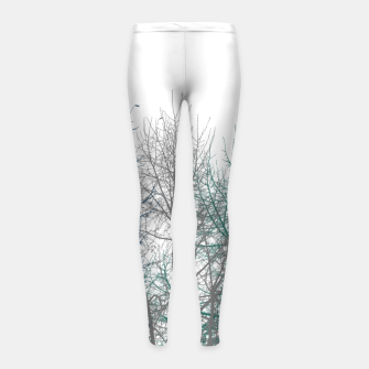 Thumbnail image of Multicolor Graphic Botanical Print Girl's leggings, Live Heroes