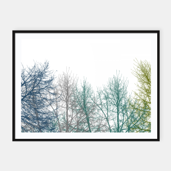 Thumbnail image of Multicolor Graphic Botanical Print Framed poster, Live Heroes