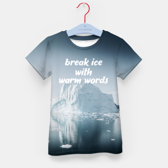 Thumbnail image of Break Ice Kid's t-shirt, Live Heroes