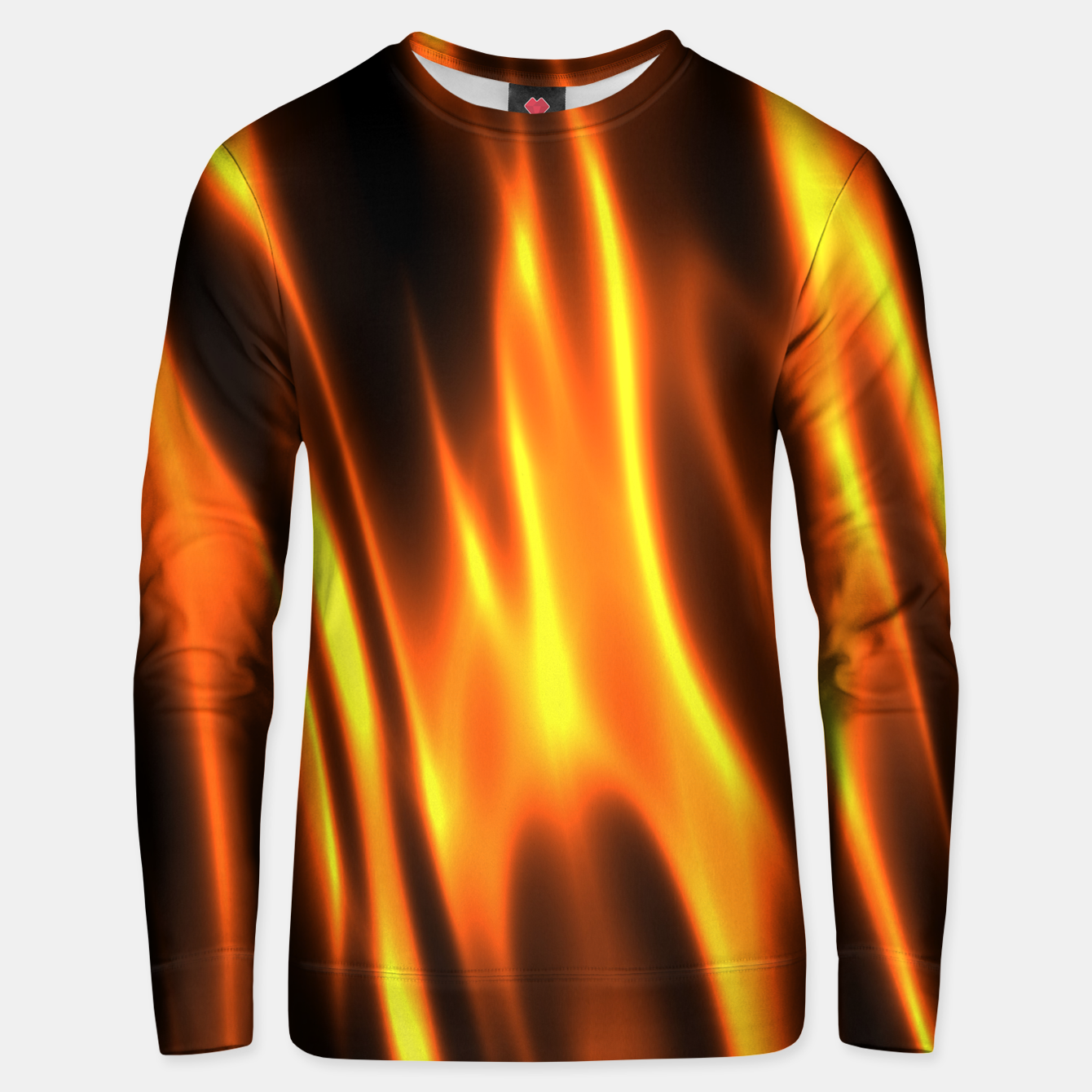 Foto Hot Fire Flames Unisex sweater - Live Heroes