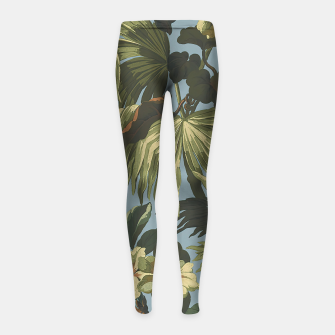 Thumbnail image of flower 4 Girl's leggings, Live Heroes