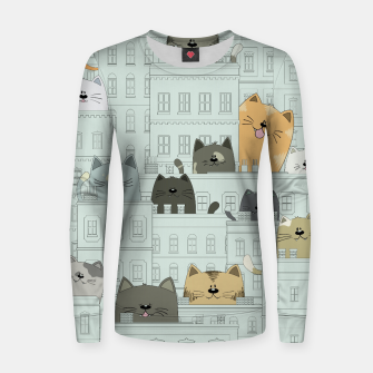 Miniatur Cats and the City Women sweater, Live Heroes