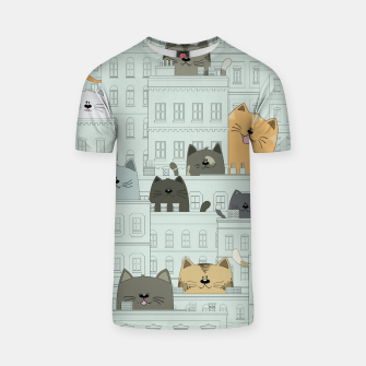 Miniatur Cats and the City T-shirt, Live Heroes