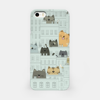Miniatur Cats and the City iPhone Case, Live Heroes
