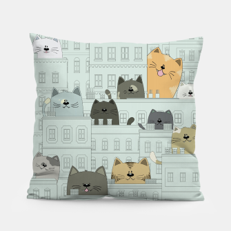 Miniatur Cats and the City Pillow, Live Heroes