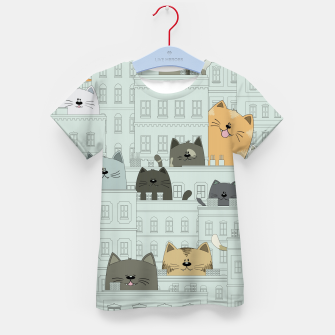 Miniatur Cats and the City Kid's t-shirt, Live Heroes