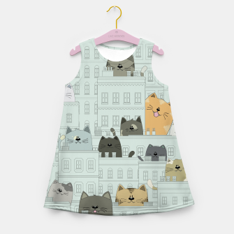 Miniatur Cats and the City Girl's summer dress, Live Heroes