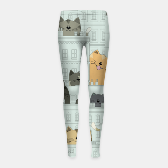 Miniatur Cats and the City Girl's leggings, Live Heroes