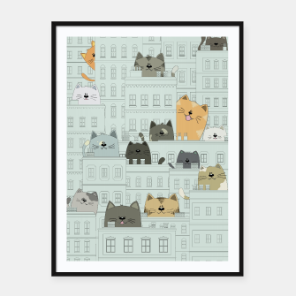 Miniatur Cats and the City Framed poster, Live Heroes