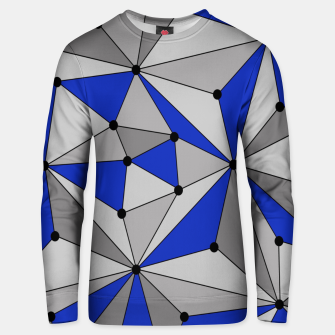 Thumbnail image of Abstract geometric pattern - blue and gray. Unisex sweater, Live Heroes