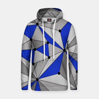 Thumbnail image of Abstract geometric pattern - blue and gray. Hoodie, Live Heroes