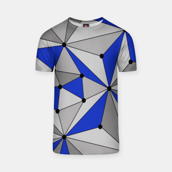 Thumbnail image of Abstract geometric pattern - blue and gray. T-shirt, Live Heroes