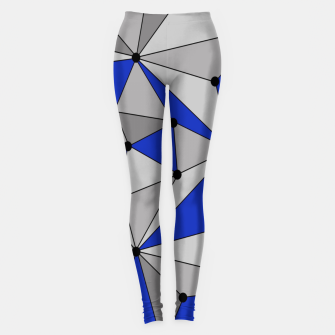 Thumbnail image of Abstract geometric pattern - blue and gray. Leggings, Live Heroes