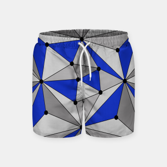 Thumbnail image of Abstract geometric pattern - blue and gray. Swim Shorts, Live Heroes