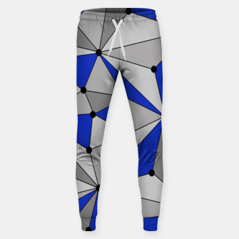 Thumbnail image of Abstract geometric pattern - blue and gray. Sweatpants, Live Heroes