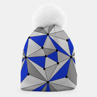 Thumbnail image of Abstract geometric pattern - blue and gray. Beanie, Live Heroes