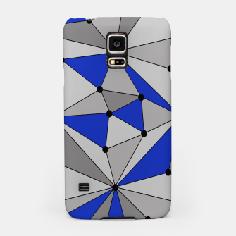 Thumbnail image of Abstract geometric pattern - blue and gray. Samsung Case, Live Heroes