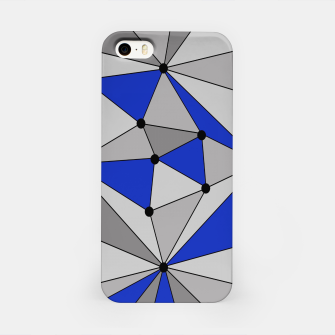 Thumbnail image of Abstract geometric pattern - blue and gray. iPhone Case, Live Heroes