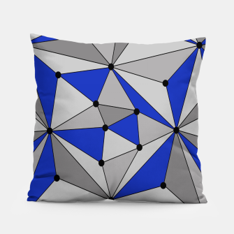 Thumbnail image of Abstract geometric pattern - blue and gray. Pillow, Live Heroes
