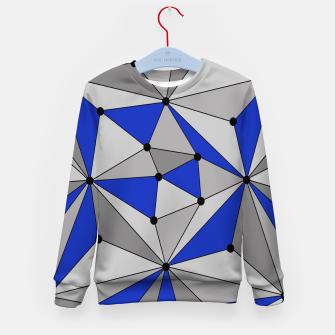 Thumbnail image of Abstract geometric pattern - blue and gray. Kid's sweater, Live Heroes