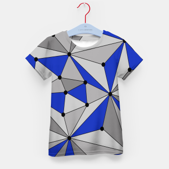 Thumbnail image of Abstract geometric pattern - blue and gray. Kid's t-shirt, Live Heroes