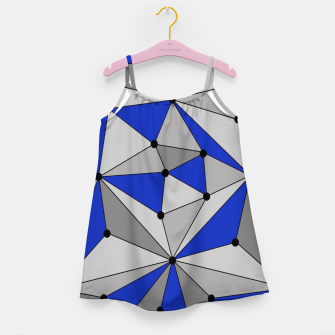 Thumbnail image of Abstract geometric pattern - blue and gray. Girl's dress, Live Heroes
