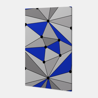 Thumbnail image of Abstract geometric pattern - blue and gray. Canvas, Live Heroes